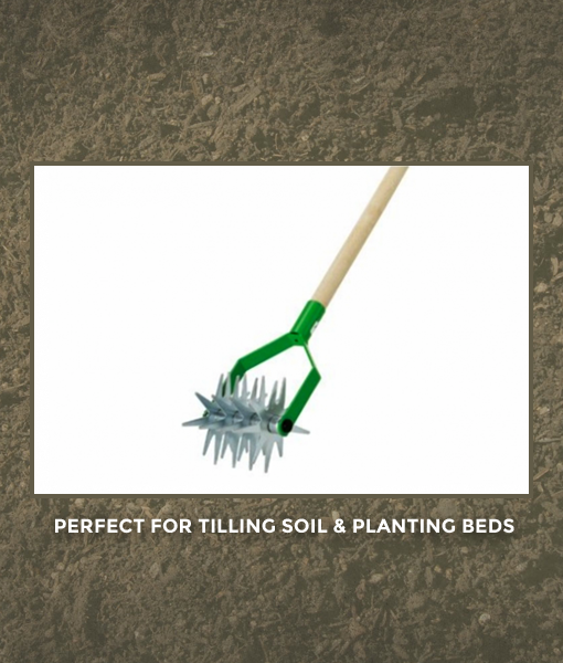 Long Hand Rolling Tiller RazarSharp Green Solutions for Urban